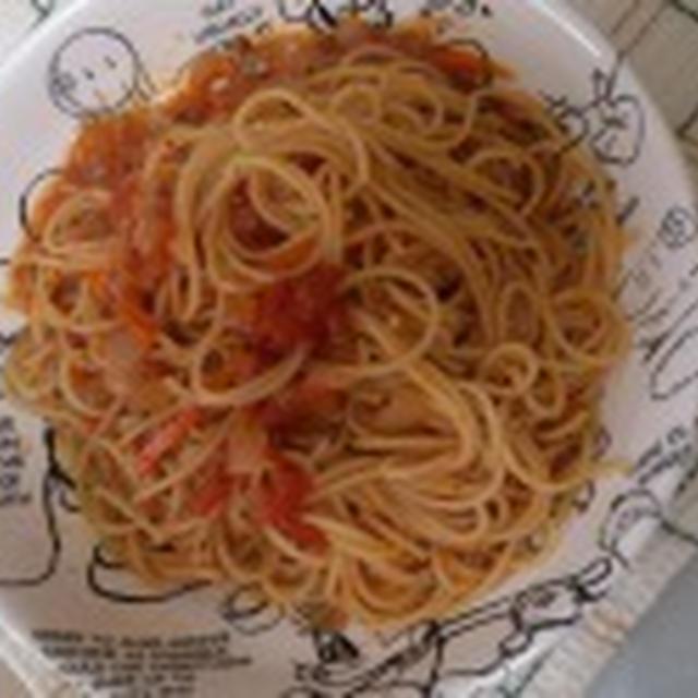ごまみそトマトパスタ
