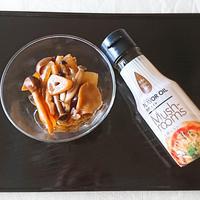 きのこと新玉ねぎの醤油マリネ