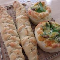 【福島クッキングアンバサダー】福島県産アスパラガス・福島県産さやえんどうのパン♪
