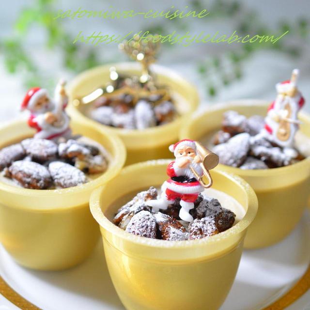 プルプル食感♡大人のカフェオレプリン~クリスマスバージョン♪
