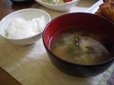 牡蠣フライ定食〜ご飯に蕗のお味噌汁つき