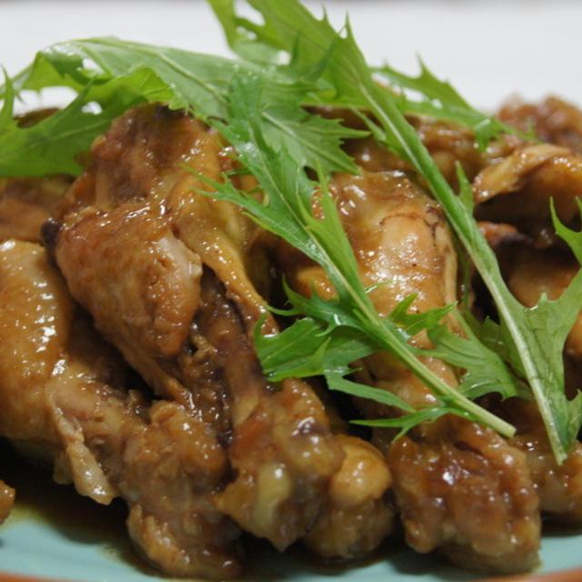 鶏手羽元のポン酢煮で軟骨もポリポリ