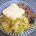 レンジで4分簡単♪豚こまと豆腐とキャベツの甘辛煮
