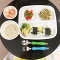 【幼児食】2years☆モロヘイヤと納豆のスクランブルエッグ