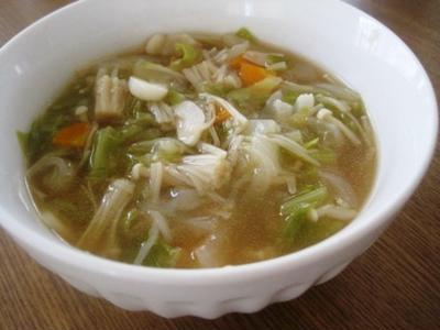 冷蔵庫の掃除に~野菜たっぷりスープ