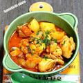 チキンとポテトのトマトソース煮&メシ通さんアップ、今回は「ツナマス」