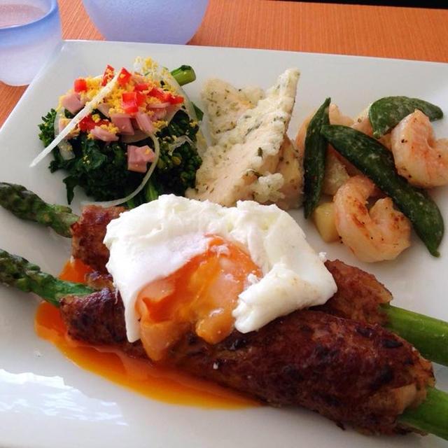 【春野菜の彩りワンプレート】アスパラつくねと菜の花の春色サラダ