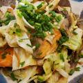 鮭と野菜の味噌山椒