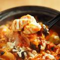 鶏むね肉と茄子のトマト鍋