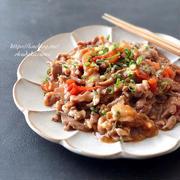 【レンジ6分で完成】ご飯がすすむ!もちもち豚肉とトマトの生姜焼き