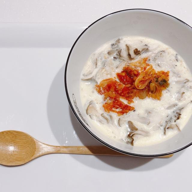 〈レンチン〉豆乳キムチリゾット