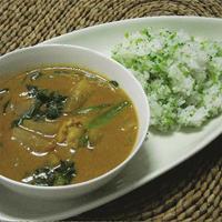 小松菜と大根の和風カレー柚子胡椒風味。