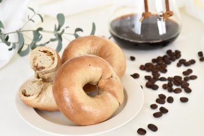 栗とコーヒーのベーグル