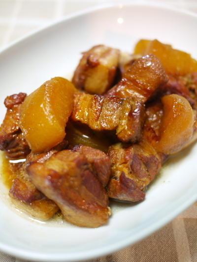 豚と大根のオイ角煮