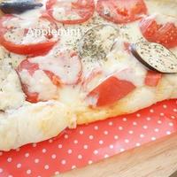 トマトとなすのピザ