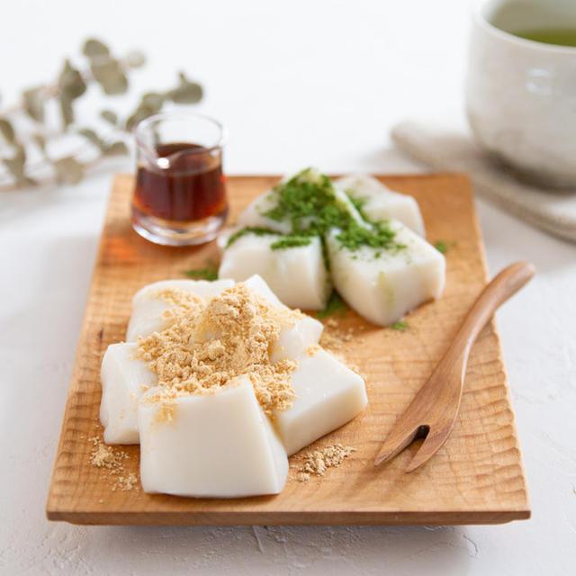 【レシピ】牛乳で作る、ミルクわらび餅♡
