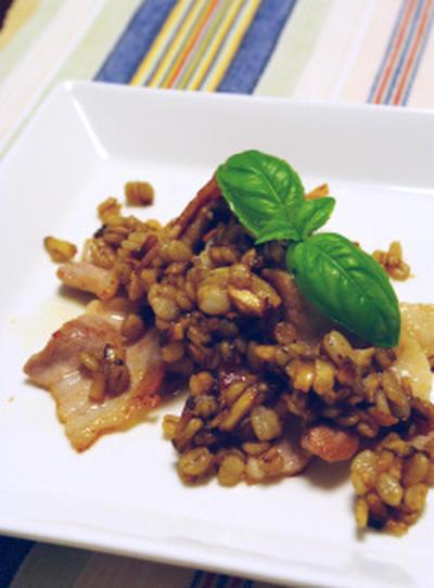 豚バラ肉のグリル☆押し麦と椎茸のバルサミコソース:貴重な画像、年に数回しかないダム放流!