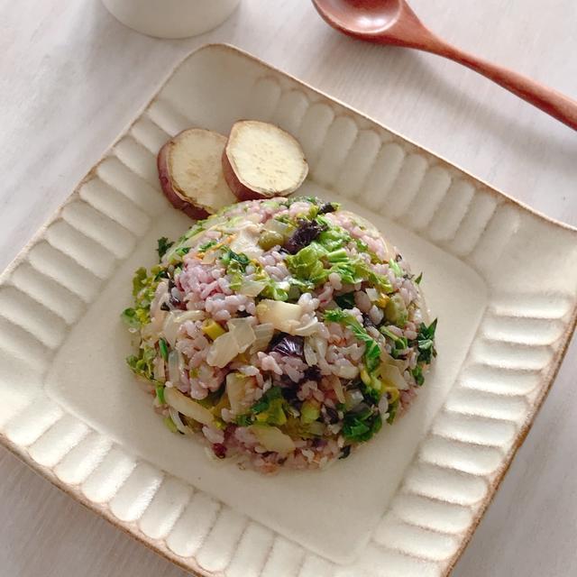 野菜の切れ端で作った料理