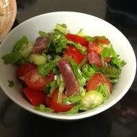 ローズマリードレッシングのサラダ