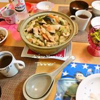 旬鍋★鮭のアラでバター香る石狩鍋。