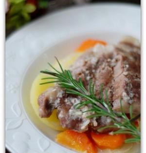 塩麹漬け豚ロースの白ワイン煮