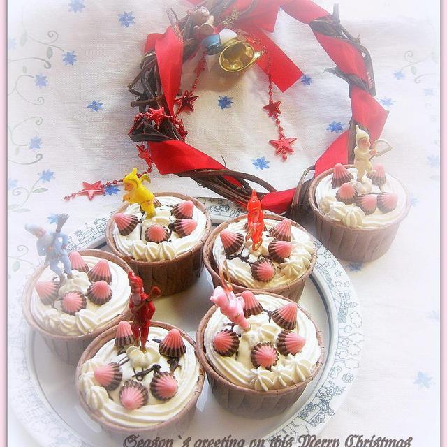 カップケーキでクリスマス!