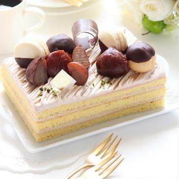 秋を愉しむ☆モンブランショートケーキ