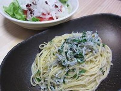 木の芽としらすのスパゲティ