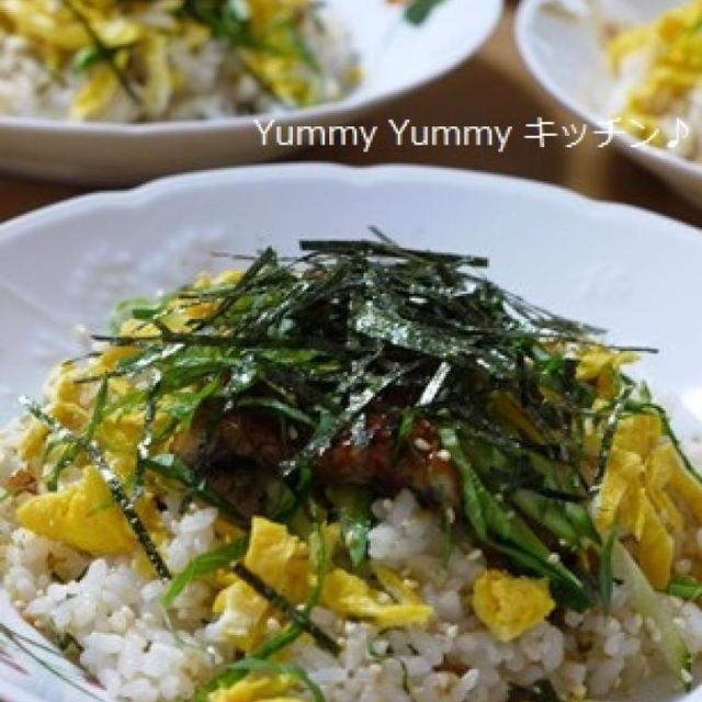 パワーアップ☆鰻とシソの混ぜちらし寿司♪