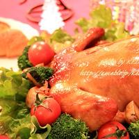 日本のクリスマスもやっぱりチキン 丸鶏ローストチキン