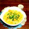 食感ありの南瓜スープ。