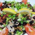 丑の日の食卓は  チキンのレモンソテーと鰻のちらし寿司でパワーアップ♪