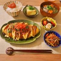 180.晩ごはんレシピまとめ:とん平焼き、豚汁、きんぴらごぼう、揚げ出し豆腐