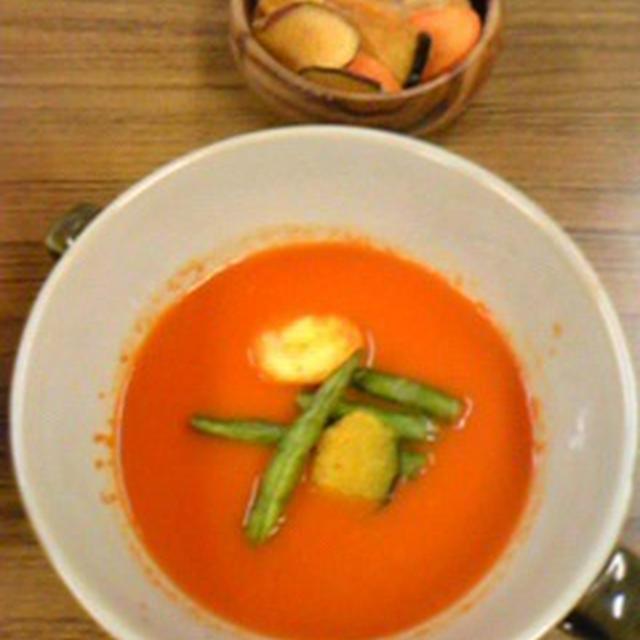 野菜ジュースをスープにする
