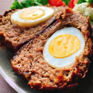 中から卵!割って楽しい♪スコッチエッグレシピ