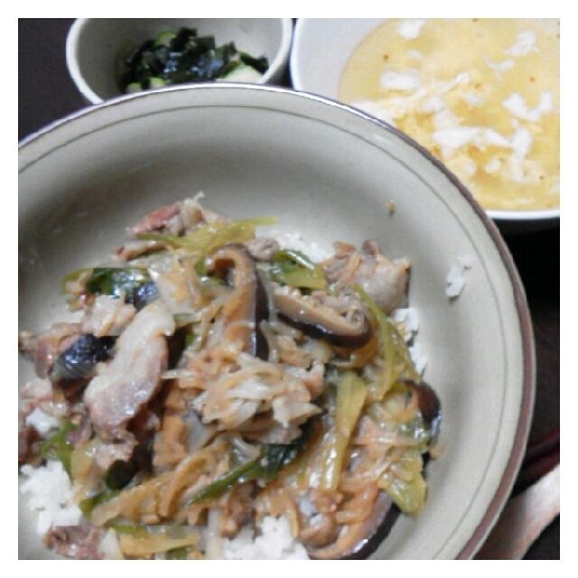 今日の夕ご飯&デザート☆豚丼&梅アイス