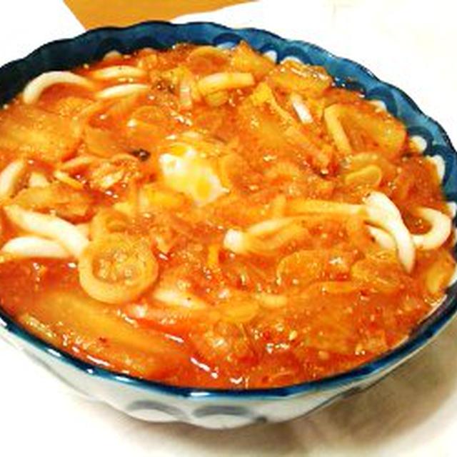 10/02/28 トマトジュースで・キムチトマトうどん