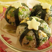 ツナと小松菜の梅チャーハン