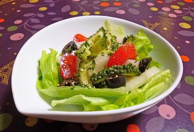 ゴーヤと梨の簡単サラダ