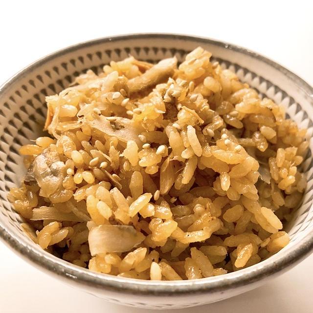 ごぼうとツナの炊き込みご飯