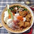 海老塩鍋つゆで海老の土鍋