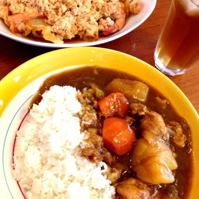 手羽元と野菜のスープを三段活用と イヤイヤ期