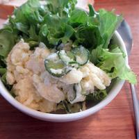 豆乳マヨソースのチーズ入りポテトサラダ