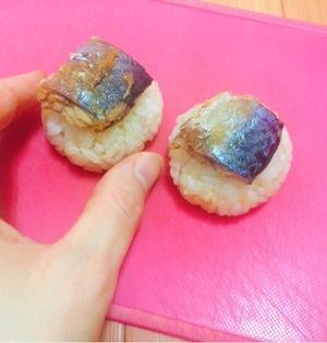 鯖の生姜焼き風にぎり#簡単 #時短 #鯖缶 #節約