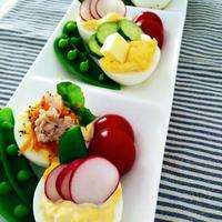 彩りタルタルゆで卵でおもてなしサラダ