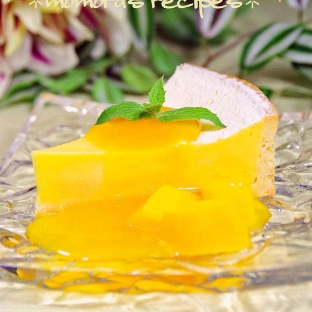 夏休みの爽やかお菓子♪炊飯器で簡単マンゴーチーズケーキ
