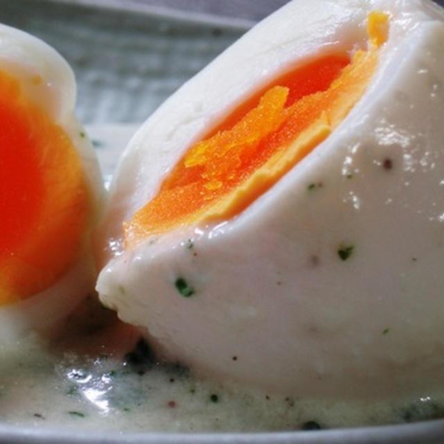 パパ・ア・ラ・ワンカイナ風ゆで卵のチーズソース:今朝の女風呂談義