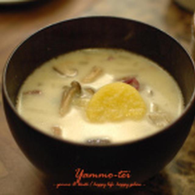 木の子と薩摩芋のポタージュスープ