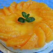 オレンジのレアチーズケーキ☆ 「成城の食卓」で久々の外食♪
