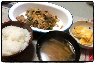【2日分のメニューが決まる!】野菜炒め定食、翌日、春巻き。